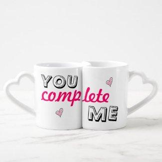 You complete me - lover's coffee mug lovers mug