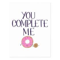 You complete me postcard