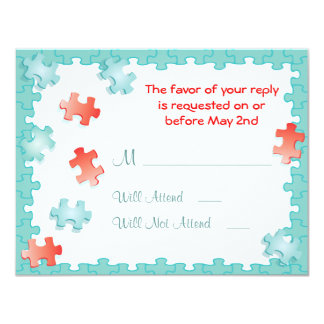 You complete me puzzle Wedding RSVP Cards