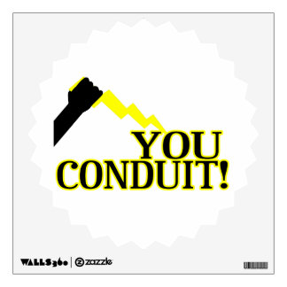 You Conduit Wall Decal