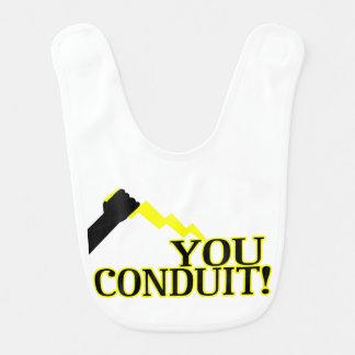You Conduit Baby Bib