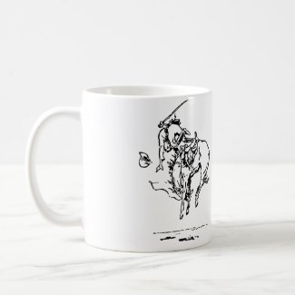 "You Could Have Said ""No"" Bucking Bronco Coffee Cup Basic White Mug"