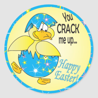 You Crack Me Up Easter Classic Round Sticker