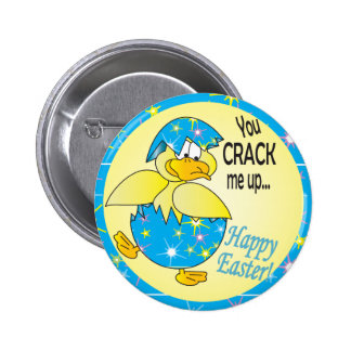 You Crack me Up Easter Duck Pinback Button