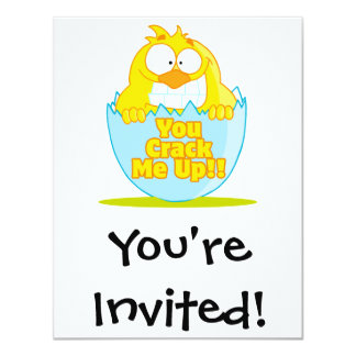 you crack me up funny cracked chick bird card