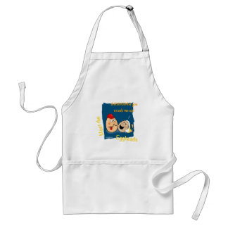 You Crack me up! Funny Eggheads Cartoons Adult Apron