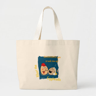 You Crack me up! Funny Eggheads Cartoons Jumbo Tote Bag