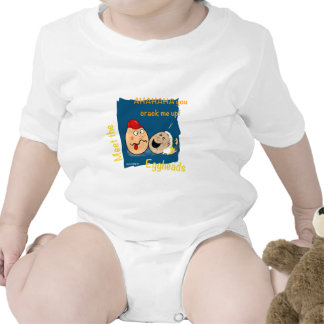 You Crack me up! Funny Eggheads Cartoons Rompers