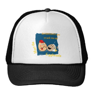 You Crack me up! Funny Eggheads Cartoons Trucker Hat