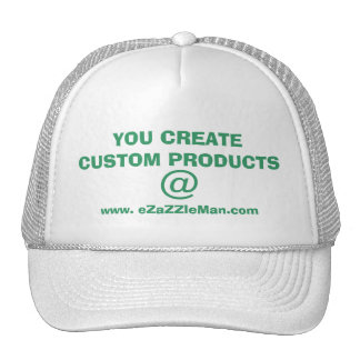 YOU CREATE CUSTOM PRODUCTS @ www.eZaZZleMan.com Mesh Hats