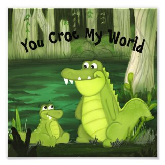 You Croc My World Crocodiles Photo Print