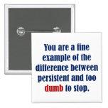 You decide persistent or just plain dumb pins