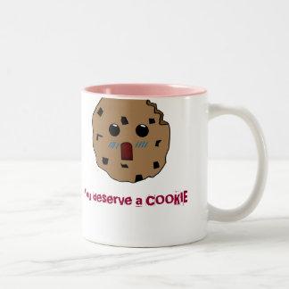 You deserve a cookie Mug! Two-Tone Coffee Mug