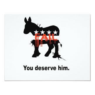 "You deserve him 4.25"" x 5.5"" invitation card"