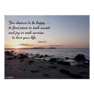 You Deserve To Be Happy Posters
