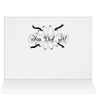 You Did It Hand Drawn Doodle Card