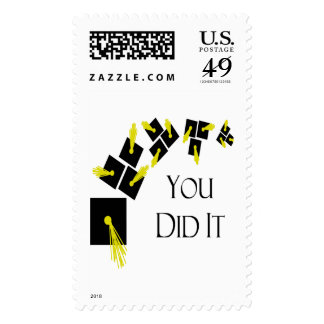 You Did It Postage Stamp