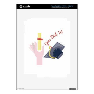 You Did It! iPad 3 Skin