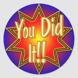 You Did It! Sticker