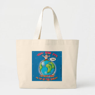 You did it! You must feel on top of the world Canvas Bag