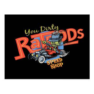 You Dirty Ratrod Postcard