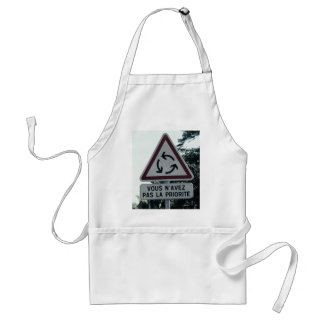 You do not have priority adult apron