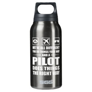 You Do Your Way Pilot Does Right Way Insulated Water Bottle