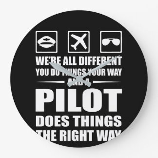 You Do Your Way Pilot Does Right Way Large Clock