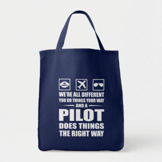 You Do Your Way Pilot Does Right Way Tote Bag