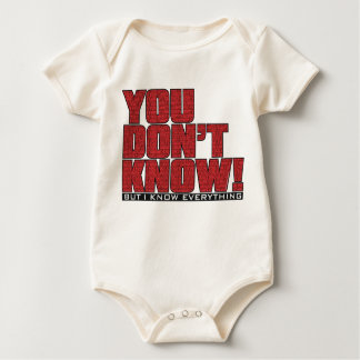 You Don't Know Baby Wear Baby Bodysuit