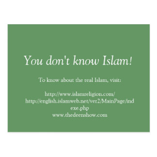 You don't know Islam Postcard
