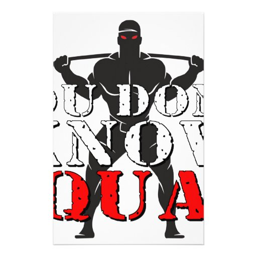 YOU DON'T KNOW SQUAT CUSTOMIZED STATIONERY