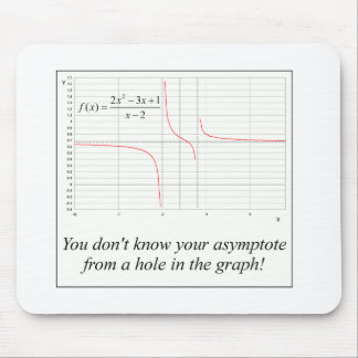 You don't know your asymptote... mouse pad