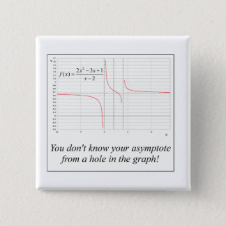 You don't know your asymptote... pinback button
