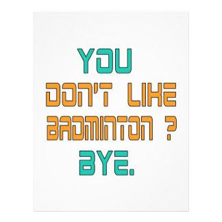 You don't like Badminton ? Letterhead