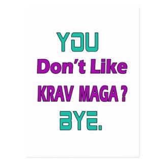 You Don't Like Krav Maga Postcard