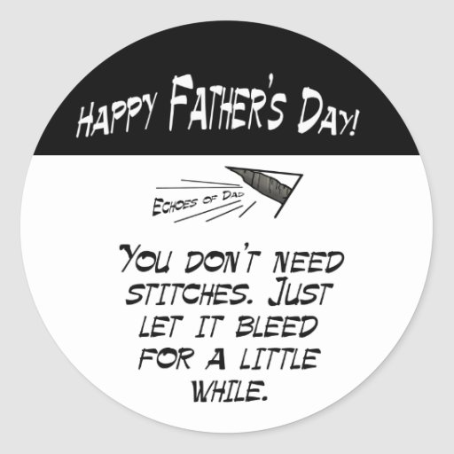 You don't need stitches classic round sticker