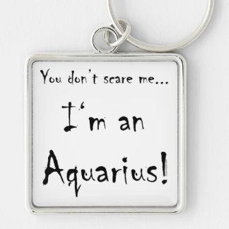 You don't scare me...Aquarius Keychain