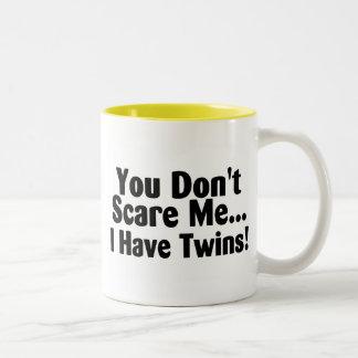 You Dont Scare Me I Have Twins Two-Tone Coffee Mug