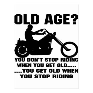 You Don't Stop Riding When You Get Old Postcard