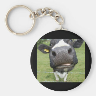 You Dumb Cow Basic Round Button Keychain
