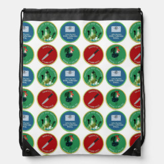 You earned these patches. drawstring bags