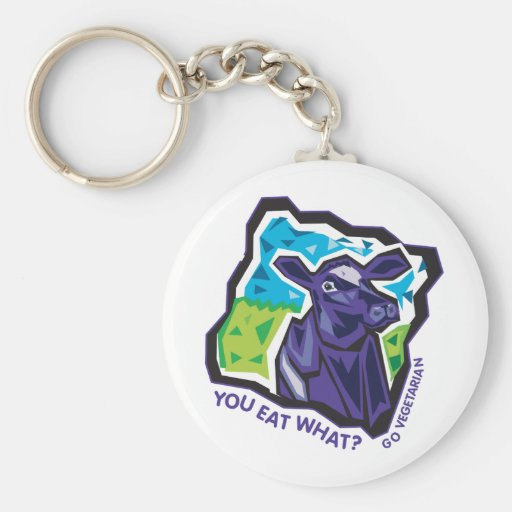 You Eat What? Cow Keychain