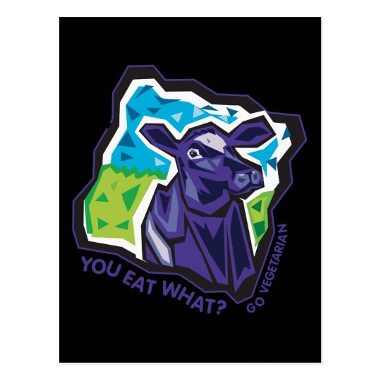 You Eat What? Cow Postcard