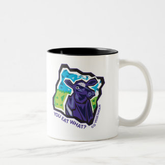 You Eat What? Cow Two-Tone Coffee Mug