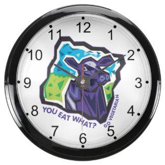 You Eat What? Go Vegetarian Aqua Clocks