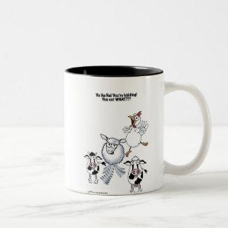 You Eat What? Two-Tone Coffee Mug