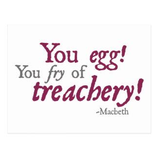 You Egg!  You Fry of Treachery! Postcard