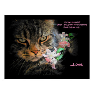 You exist for love Cat haiku Poster