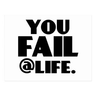 You Fail @Life Postcard